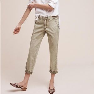 Anthropologie Relaxed Chino Pants